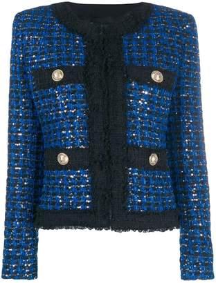 Balmain sequinned tweed suit jacket