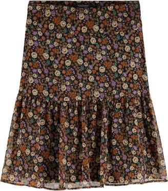 Scotch & Soda Women's Print Ruffle Skirt