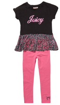 Juicy Couture Floral Print Tunic and Leggings Set