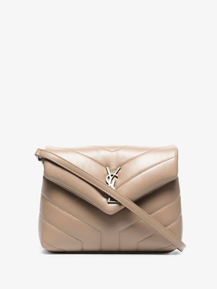 Saint Laurent neutral Toy Loulou quilted leather mini bag