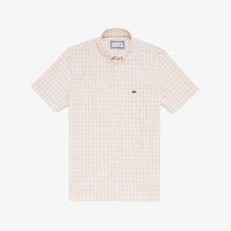 Lacoste Men's Slim Fit Short-Sleeve Wool Shirt