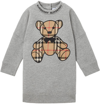 Burberry Girl's Danny Vintage Check Bear Sweatshirt, Size 12M-2