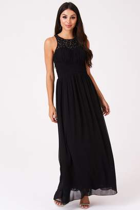Little Mistress Melrose Lace Back Maxi Dress