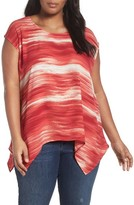 Sejour Plus Size Women's High/low Tee
