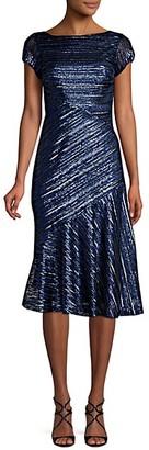 David Meister Sequin Knee-Length Fit--Flare Dress