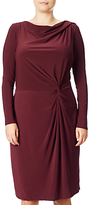 Adrianna Papell Plus Size Knot Front Draped Dress, Bordeaux