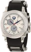 Brillier Men's 01.4.4.4.11.1 Chronograph Method Air Dial Black Rubber Watch