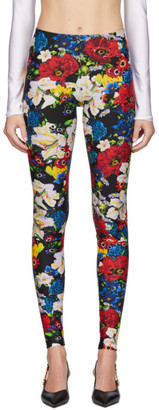 Versace SSENSE Exclusive Multicolor Floral Leggings