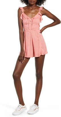Billabong Flirty Free Ruffle Trim Minidress