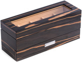 Bey-Berk 5-Watch Box With Glass Top & 5-Compartment Accessory Drawer