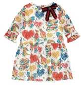 Gucci Girl's Floral Long Sleeve Dress
