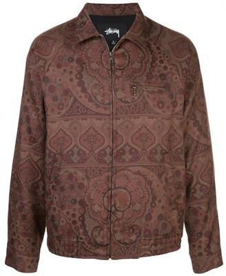 Stussy Bryan paisley print shirt jacket