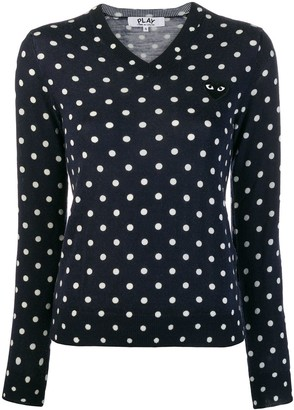 Comme des Garcons polka-dot knit sweater