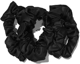 Pottery Barn Slip Silk Large Scrunchies - Black