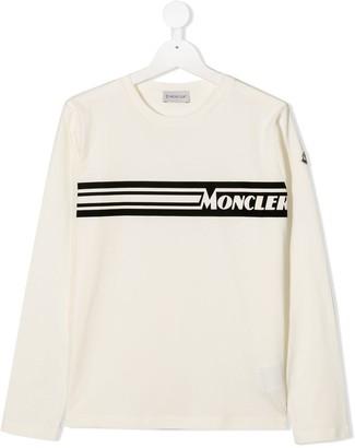Moncler Enfant logo print long-sleeve T-shirt