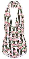 Dolce & Gabbana Printed halter swimsuit