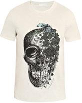 Alexander McQueen Ivy-print skull T-shirt
