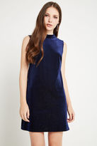 BCBGeneration Velvet A-Line Dress - Navy