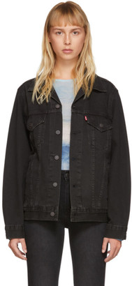 Levi's Levis Black Vintage Fit Trucker Denim Jacket