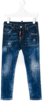 DSQUARED2 distressed skinny jeans - kids - Cotton/Spandex/Elastane - 4 yrs