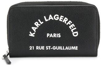 Karl Lagerfeld Paris Rue St Guillaume zipped wallet