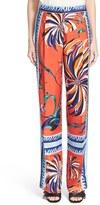 Emilio Pucci Cactus Print Silk Pajama Pants
