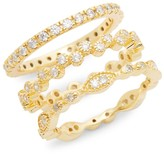 Thumbnail for your product : Sterling Forever 14K Goldplated Triple Stack Ring/Size 6