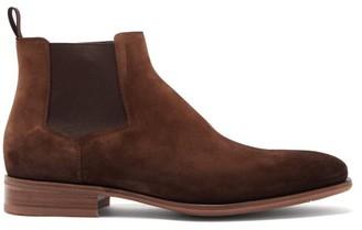 Santoni Suede Chelsea Boots - Brown