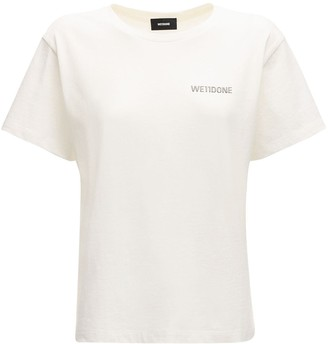 we11done Logo Cotton Jersey T-Shirt