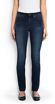 Lands' End Women's Mid Rise Slim Leg Jeans-White
