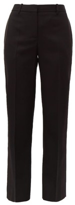 Givenchy Satin-trimmed Wool-twill Tuxedo Trousers - Womens - Black