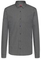 HUGO Extra-slim-fit shirt with all-over logo print