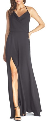 Dress the Population Cheyenne Cowl Neck Evening Gown