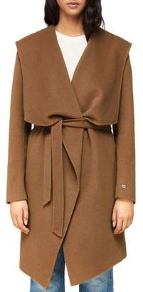 Soia & Kyo Samia Draped Double-Face Wool-Blend Coat