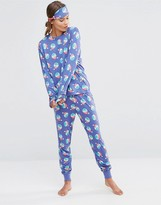 Chelsea Peers Holidays Naughty Sprouts Pajama Set with Eyemask in Gift Box