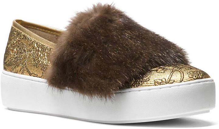 7af8caf4a2bab Lorelai Mink Fur & Metallic Skate Sneaker