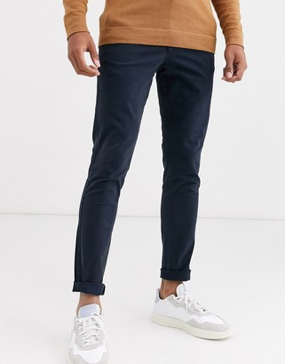 Selected skinny fit chino in navy