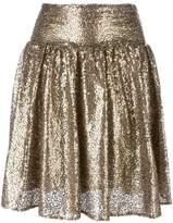 MICHAEL Michael Kors metallic sequin pleated skirt