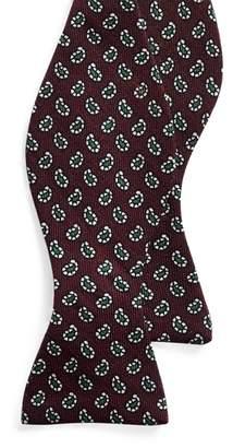 Ralph Lauren Neat Wool Challis Bow Tie