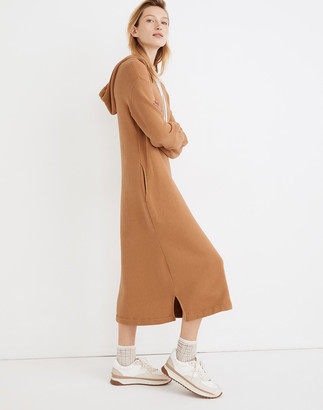 Madewell MWL Airyterry Hoodie Sweatshirt Dress