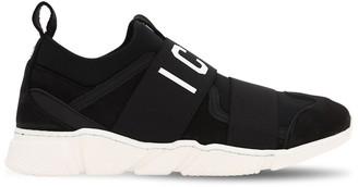 DSQUARED2 Suede & Neoprene Slip-on Sneakers