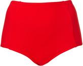 Topshop Red High Waisted Bikini Pants