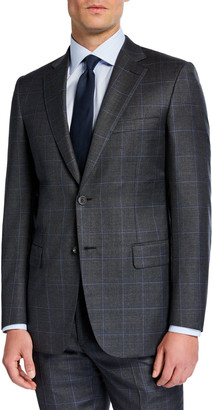 Brioni Men's Windowpane Two-Piece Wool Suit