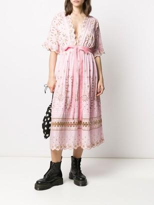 LoveShackFancy embroidered v-neck dress