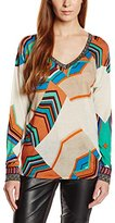 Custo Barcelona Women's Abstract Print Sweater