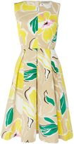 Marella Cardiff leaf print a line dress
