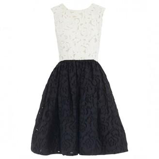 Oscar de la Renta Black Lace Dress for Women