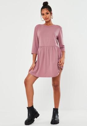 Missguided Rose Basic Jersey Smock Dress