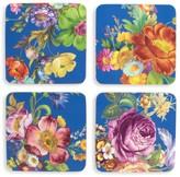 Mackenzie Childs Flower Market 4-Piece Coaster Set