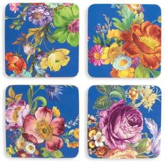 Mackenzie Childs Flower Market 4-Piece Coaster Set